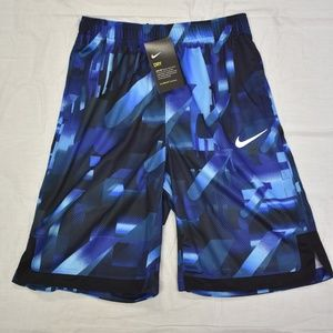 NWT Boys Nike Dri-Fit Training Shorts XL- Blue/blk